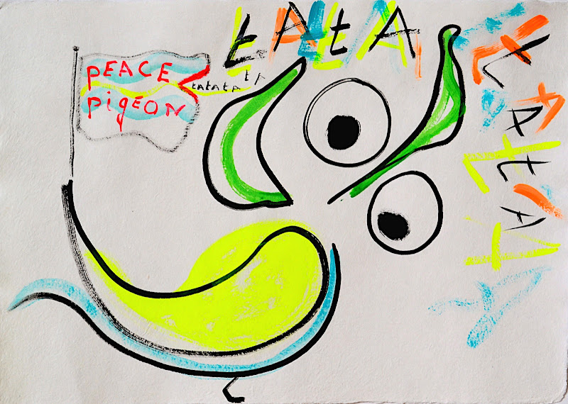 peace pigeon by art-for-air.nl